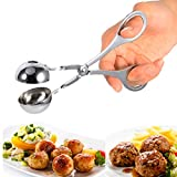 Meatball Scoop Home Stainless Steel Cookie Dough Non Stick Meatballer Maker By Delaman (Small)