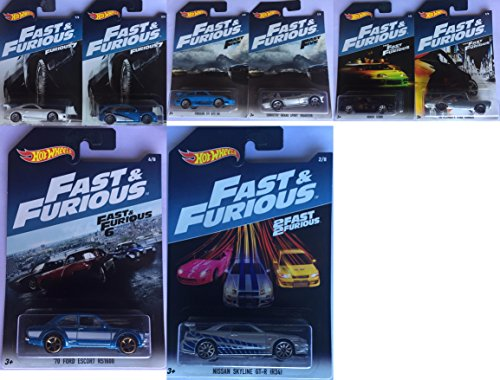 Hot Wheels 2017 Fast & Furious Exclusive Bundle of 8
