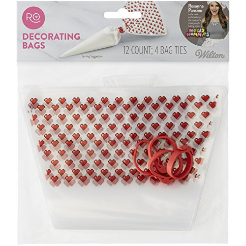 Rosanna Pansino Disposable Decorating Bags, 12-Ct. by Wilton ()