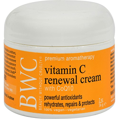 Beauty Without Cruelty Renewal Cream Vitamin C with CoQ10 - 2 oz (Facial Cream Renewal Coq10)
