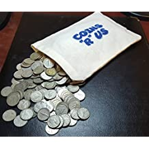 """Coins """"R"""" Us - 10x (Ten Coins) 80% SILVER Authentic Canada Dimes - Mix of Years - Great Investment - Packaged in a Coins R Us Linen Grab Bag - Amazing Gift For Everyone - Young or Old!"""