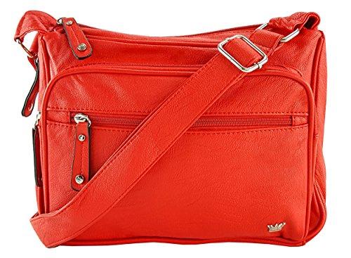 Purse King Magnum Concealed Carry Handbag (Candy Apple Red) - Strips Magnum