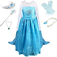 Anbelarui Girls New Princess Party Cosplay Costume Long Dress up 3-9 Years