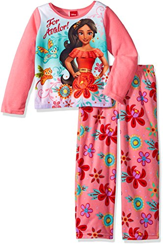Disney Little Girls' Elena 2-piece Fleece Pajama Set, Pink, 4