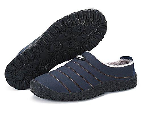 Chaussures De Neige Pantoufle Femmes Hommes Mode Hiver Chaud Chaussures Glisser Sur Imperméable Anti-dérapant En Plein Air Indoor Sneaker Noir Bleu Tan Bleu
