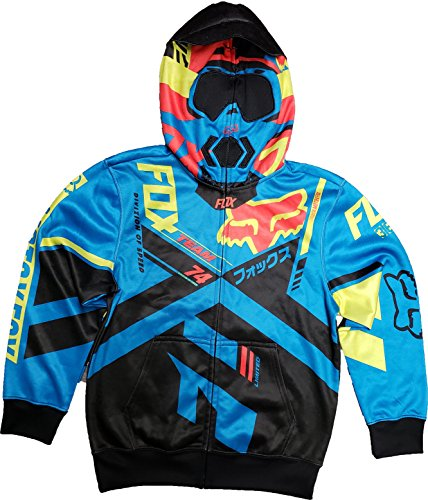 Fox Racing Youth Division Full Zip FLC Electric Blue Youth-Large