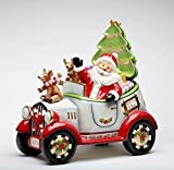 I Believe: Santa Driving in Car Cookie Jar Collectible 5 Piece Set