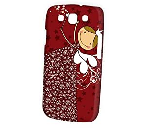 Case Fun Samsung Galaxy S3 (I9300) Case - Vogue Version - 3D Full Wrap - Red Christmas Angel