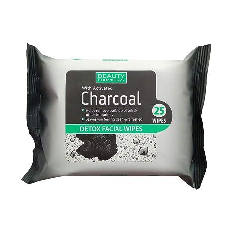 Belleza Fórmulas carbón Facial toallitas, 25 piezas