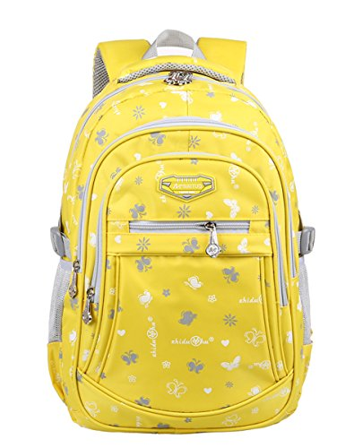 unisex-child-student-school-bag-portable-leisure-multifunction-backpack-yellow