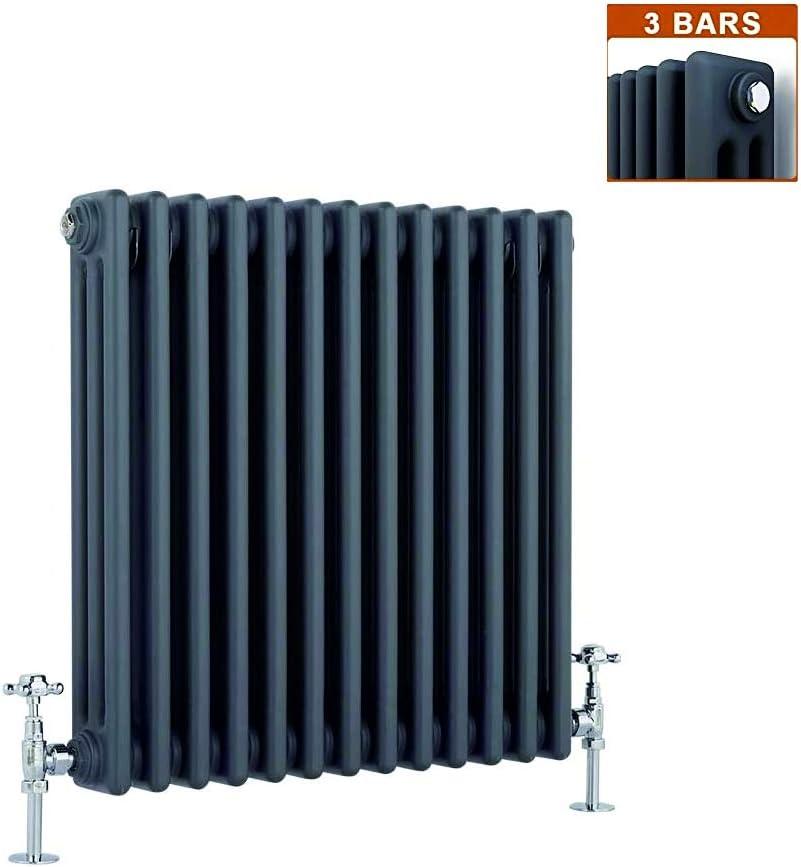 Global - Radiador de calefacción central (hierro fundido, 3 columnas, 13 secciones, horizontal, 600 x 585 mm)