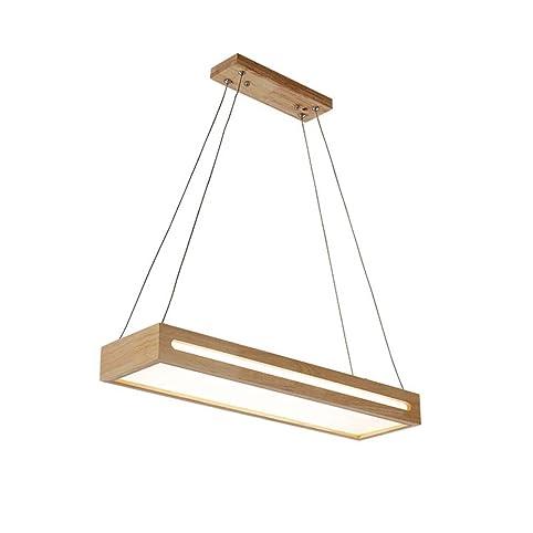 ZMH LED Pendelleuchte Esstisch Dimmbar Höhenverstellbar Pendellampe Holz  Hängelampe Hängeleuchte Deckenleuchte Für Esszimmer Wohnzimmer Büro  Restaurant