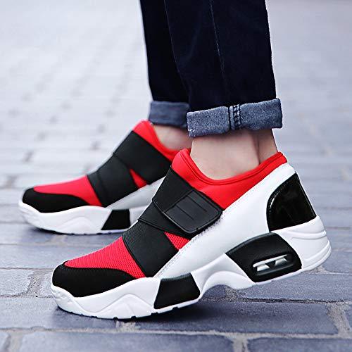 Casuales Tenis Adultos Rojo Shoes Al De Hombres Montaña Para Alikeey Deslizamiento Zapatillas Hiker Reflectivo Ligero Deporte Transpirable Puntera gqB1Rwx5