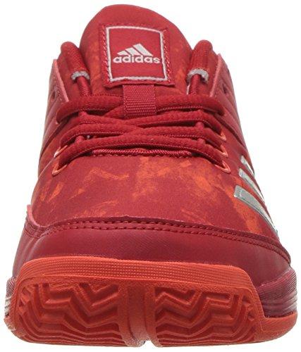 Pictures of adidas Unisex Ligra 5 K Tennis Shoe BY1859 Scarlet/Energy/Metallic Silver 6