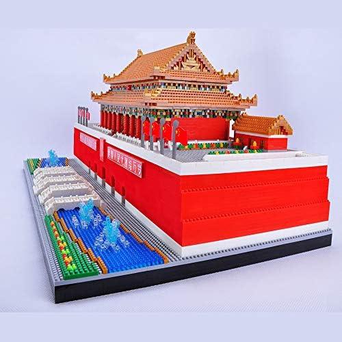 Modelkits, Micro Diamond-bouwstenen, Wereldberoemd monumentaal Tiananmen-plein, Peking, China, 3D-model DIY-speelgoed, kerstcadeaus voor kinderen en volwassenen