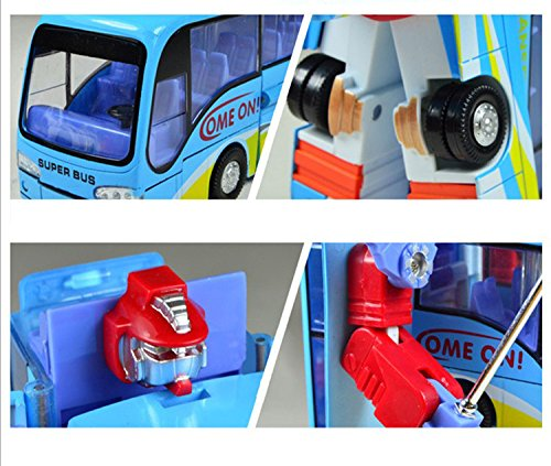 Mallya Bus Change into Fighter Robot Action Figure Toy
