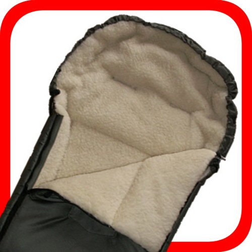 Baby Universal Fuß sack, 100% Lammwolle, dunkelgrü n Natur-Fell-Shop KiWa-FS-dunkelgrün