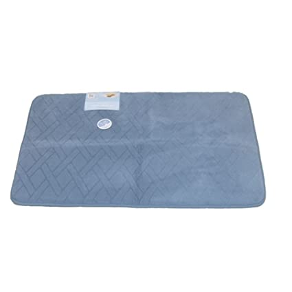Amazoncom Tranquility Luxurious Memory Foam Blue Bath Mat Skid