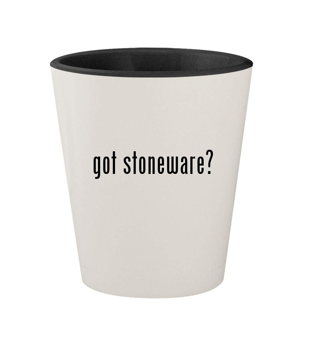 got stoneware? - Ceramic White Outer & Black Inner 1.5oz Shot Glass