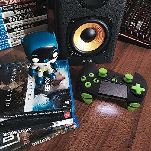 PS4 Controller Wireless 2020 Midnight Green Style Dual Shock High Performance Gaming Controller for Playstation 4 /Pro/Slim/PC with Audio Function, Mini LED Indicator, USB Cable (Midnight Green)