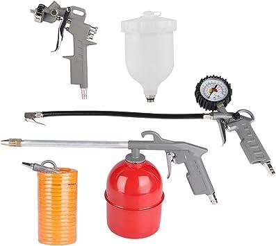 Apto para compresores 5 m de Manguera, Pistola de pulverizaci/ón, Pistola de inflado de neum/áticos, Pistola de soplado 5 Piezas SOULONG Juego de Pistola de Aire comprimido