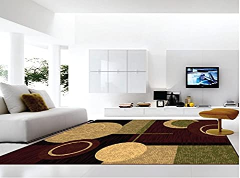 MSRUGS Living Room Rug Area Rugs Clearance, 2x3, Red