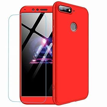 JJWYD Funda para Huawei Honor 8 Lite Carcasa [Ultra-Delgado] [Ligera] Mate Anti-arañazos y Antideslizante Caso (No Incluido Protector de patalla) Rojo