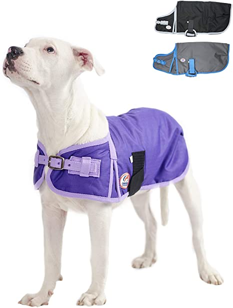 Quilted Waterproof Fabric Outdoor ideal for dog Jackets coats pet bedding Grey
