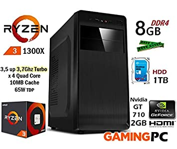 PC Ordenador Gaming SOBREMESA AMD RYZEN 1300X up to 3,7Ghz Quad ...