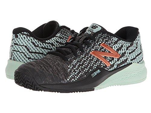 悪性のつぼみ差し引く(ニューバランス) New Balance レディーステニスシューズ?スニーカー?靴 WCY996v3 Black/Seafoam 7 (24cm) B - Medium