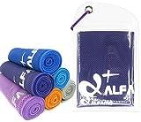 wwww Balhvit Cooling Towel Evaporative Chilly Towel For Yoga Golf Travel- Dark Violet-Large (47x14-Inch)