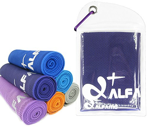 wwww Balhvit Cooling Towel Evaporative Chilly Towel For Yoga Golf Travel- Dark Violet-Large (47x14-Inch) by wwww