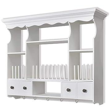 VidaXL Küchenhängeschrank Holz Weiß Wandschrank Küchenschrank Hängeschrank