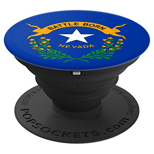 Nevada Flag Pop Socket - Battle Born PopSocket - PopSockets Grip and Stand for Phones and Tablets