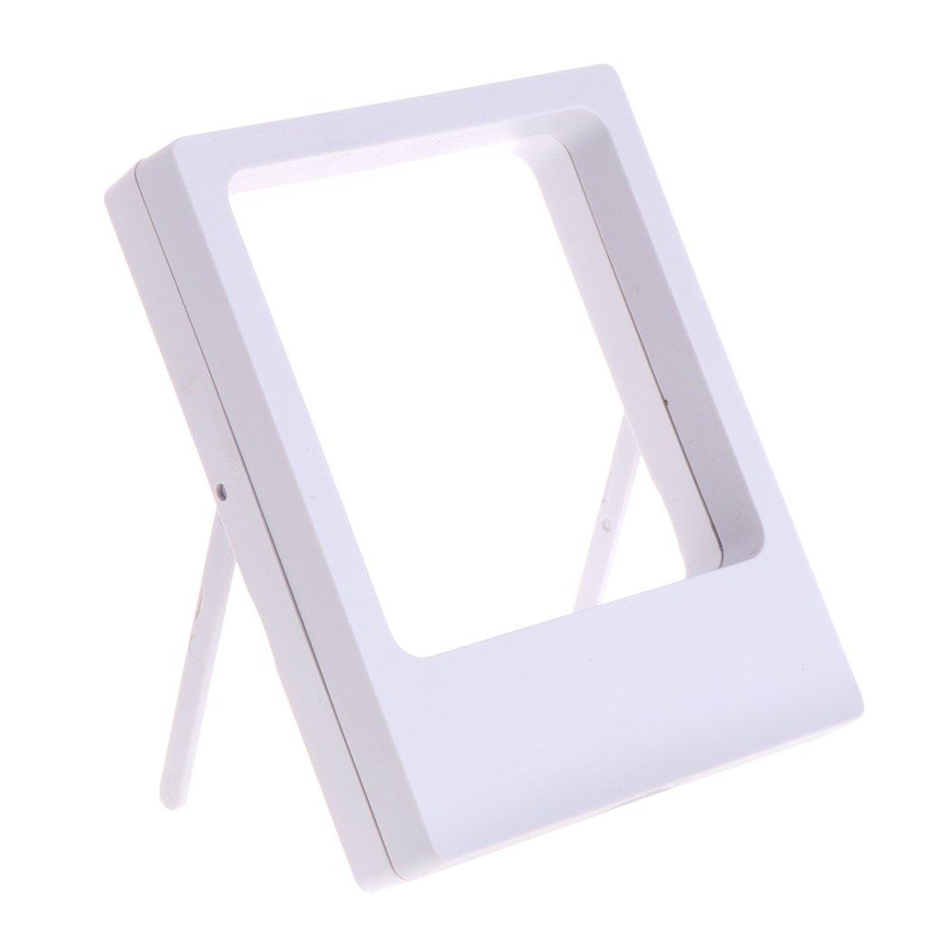 Misright透明フィルムジュエリー表示ボックスサスペンション正方形リングホルダーストレージフレーム 3.54x4.33x0.79'' ホワイト B077HGSRHR ホワイト
