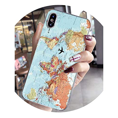908fe0bf9a9 Protective Shell of Mobile Phone Against Falling World Map Travel Plans  Luxury Phone case for Apple iPhone 8 7 6 6S Plus X XS max 5 5S SE XR Mobile  Cover,5 ...