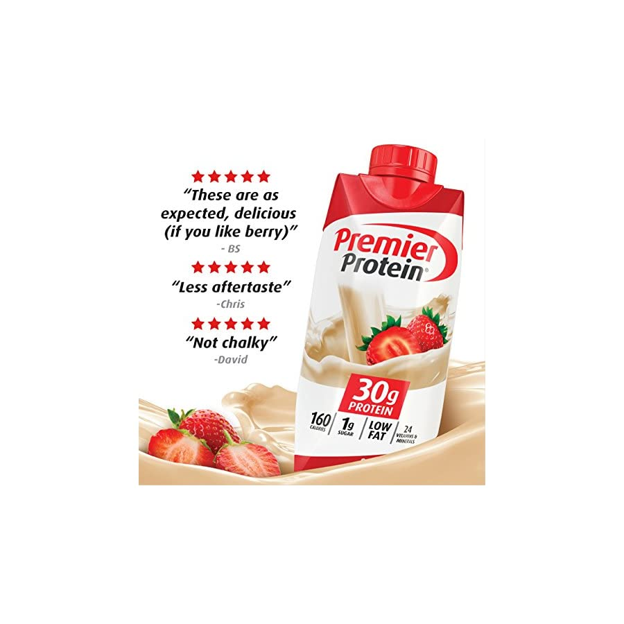 Premier Protein 30g Protein Shakes, Variety Pack (Pack of 12)