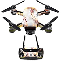 Skin for DJI Spark Mini Drone Combo - Fastball| MightySkins Protective, Durable, and Unique Vinyl Decal wrap cover | Easy To Apply, Remove, and Change Styles | Made in the USA