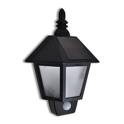 vidaXL Lámpara Farol Solar de Pared de Jardín con Sensor de Movimiento Aplique