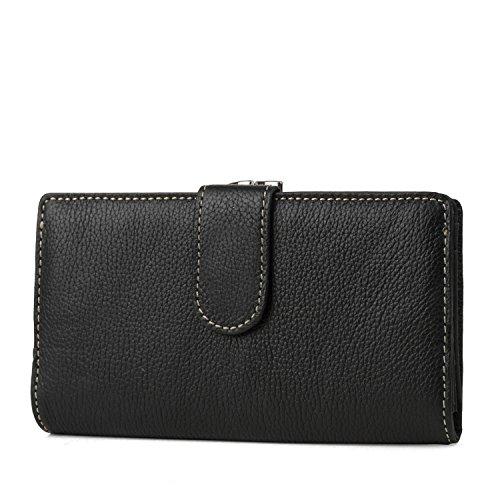 Mundi Suburban Rio 100% Leather Womens Checkbook Wallet With RFID Blocking Technology, Black, One size