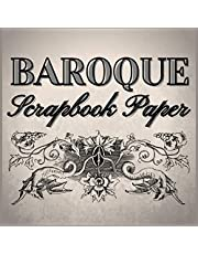BAROQUE Scrapbook Paper: Vintage, Rococo Decorations and Ornaments, Labels, Frames to Cut Out, Cream Background