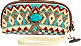 Mary Frances Turquoise Power Eye Glass Cases / Wristlet Handbag