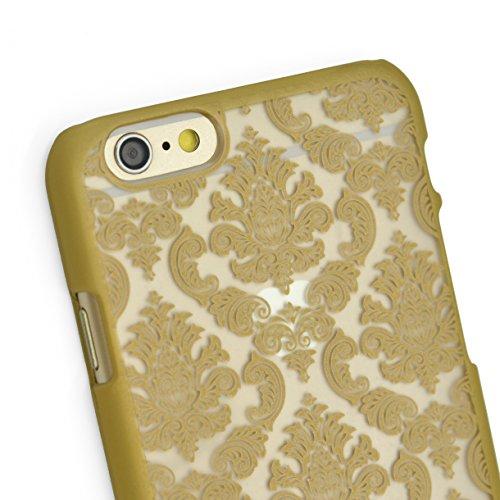 "iProtect Schutzhülle Apple iPhone 6 (4,7"") 6s Oriental Hard Case - transparent edles Orientalisches Design in gold"