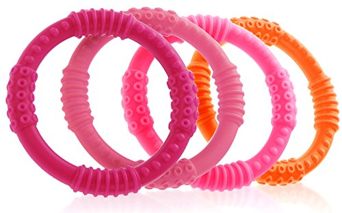 Teether Rings Silicone Teething Colorful