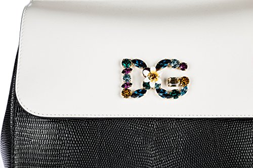 cuir Gabbana en à amp; sac Dolce blanc main femme sicily 0x5qTZw1