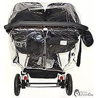 Protector de lluvia Compatible con Mountain Buggy Duet–Carrito