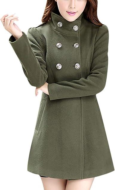 NEW BLACK BUTTON FRONT WOOL BLEND COAT LADIES WOMENS WINTER JACKET SIZE 8 10 UK