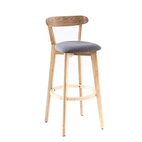 Remarkable Uk Bar Stool Fabric Wooden Modern Leisure Bar Chair Wooden Dailytribune Chair Design For Home Dailytribuneorg