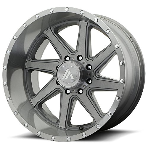(ASANTI OFF ROAD AB814 WINDMILL Titanium-Brushed Wheel with Gray (22 x 12. inches /6 x 78 mm, -40 mm)