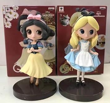 amazon ディズニー 白雪姫 アリス フィギュア 2pcs disney snow white